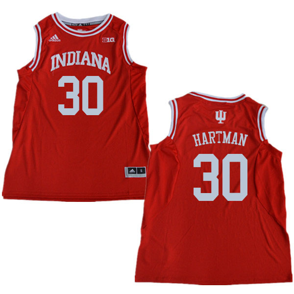 Men #30 Collin Hartman Indiana Hoosiers College Basketball Jerseys Sale-Red