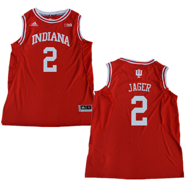 Men #2 Johnny Jager Indiana Hoosiers College Basketball Jerseys Sale-Red