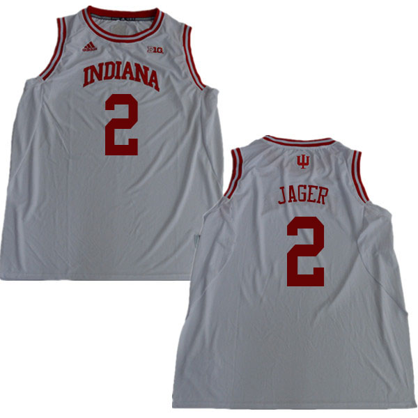 Men #2 Johnny Jager Indiana Hoosiers College Basketball Jerseys Sale-White