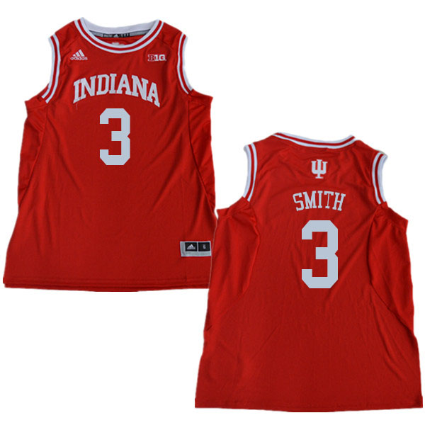 Men #3 Justin Smith Indiana Hoosiers College Basketball Jerseys Sale-Red