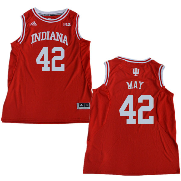 Men #42 Scott May Indiana Hoosiers College Basketball Jerseys Sale-Red