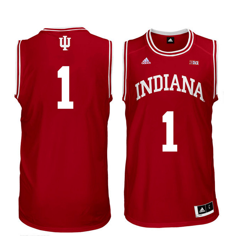 Men Indiana Hoosiers #1 Bob Knight College Basketball Jerseys Sale-Red
