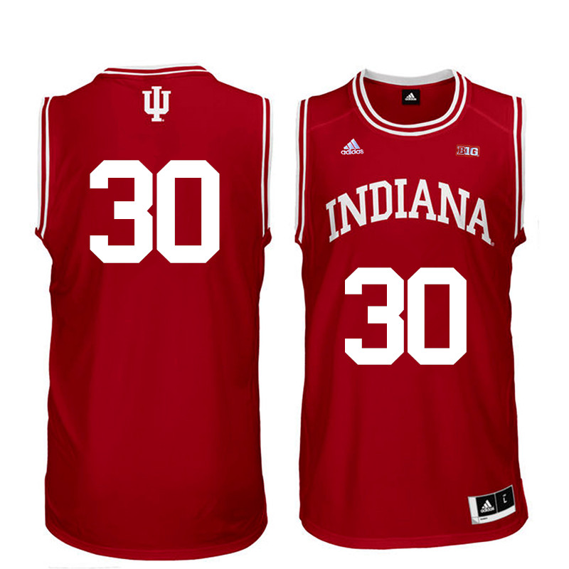 Men Indiana Hoosiers #30 Collin Hartman College Basketball Jerseys Sale-Red