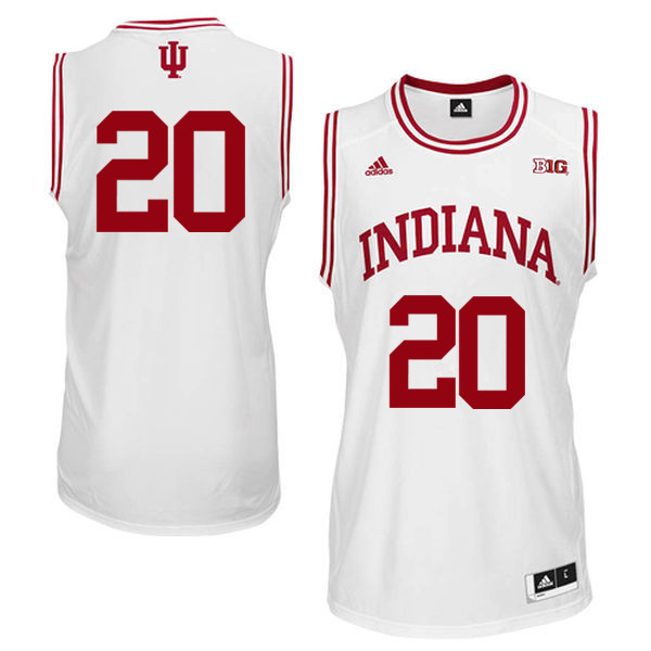 Men Indiana Hoosiers #20 DeRon Davis College Basketball Jerseys Sale-White