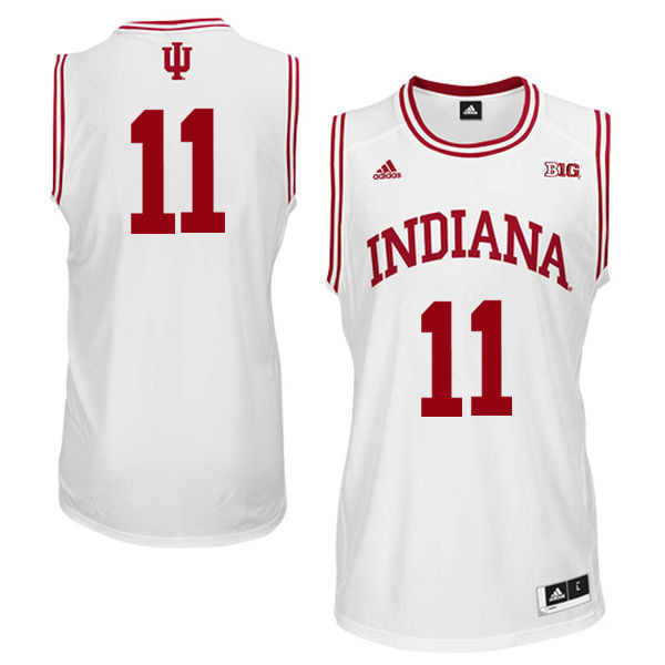 Men Indiana Hoosiers #11 Devonte Green College Basketball Jerseys Sale-White
