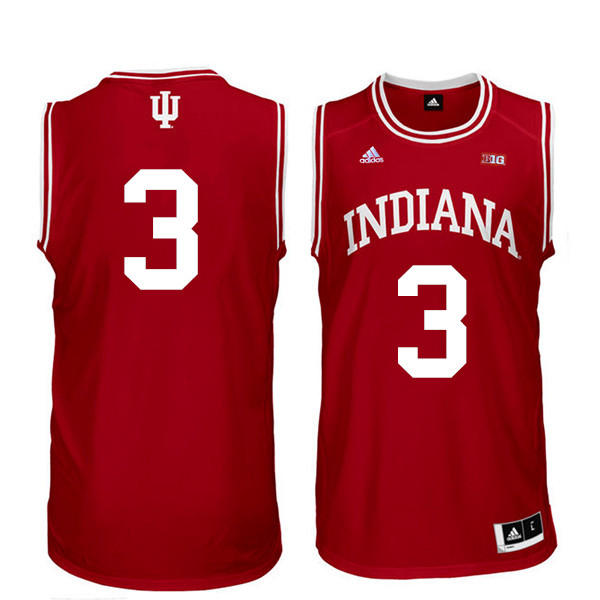 Men Indiana Hoosiers #3 Justin Smith College Basketball Jerseys Sale-Red