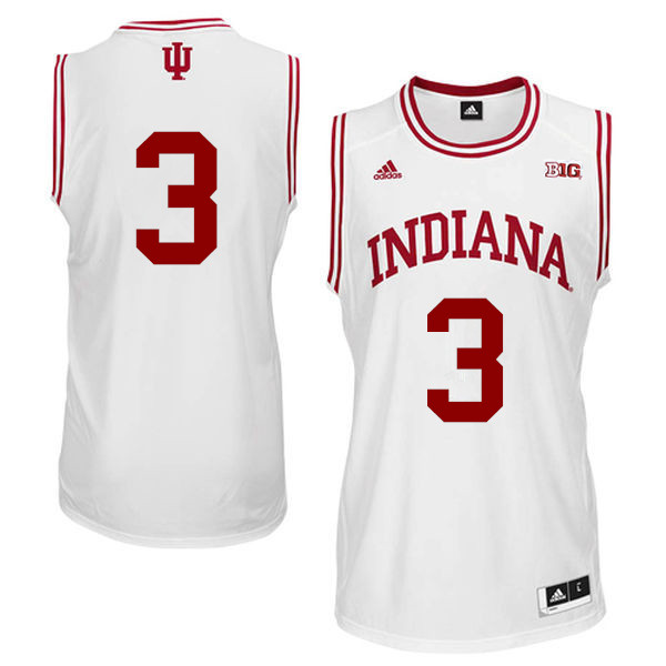 Men Indiana Hoosiers #3 Justin Smith College Basketball Jerseys Sale-White