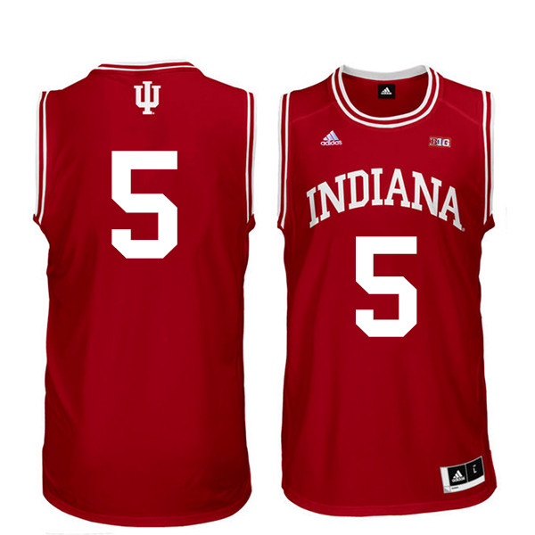 Men Indiana Hoosiers #5 Quentin Taylor College Basketball Jerseys Sale-Red