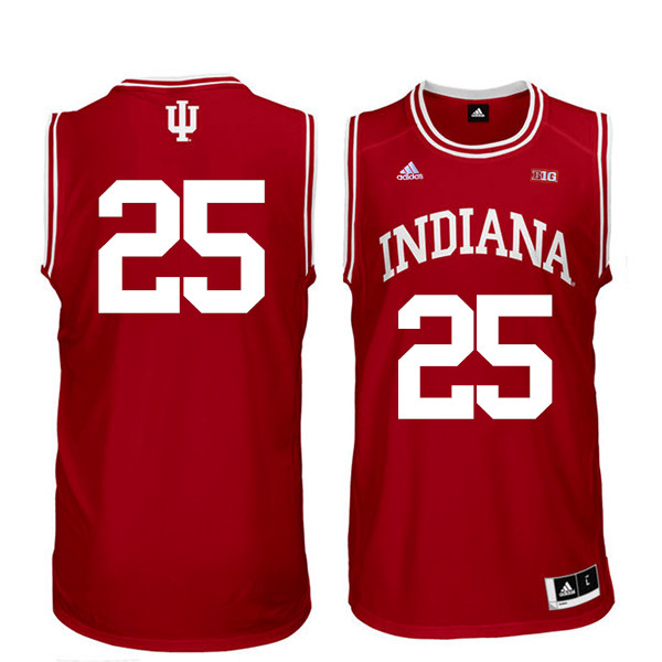 Men Indiana Hoosiers #25 Race Thompson College Basketball Jerseys Sale-Red