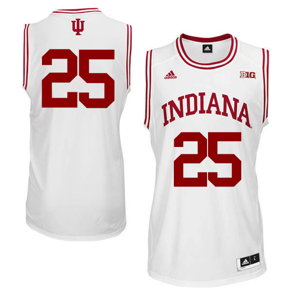 Men Indiana Hoosiers #25 Race Thompson College Basketball Jerseys Sale-White