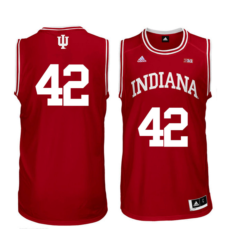 Men Indiana Hoosiers #42 Scott May College Basketball Jerseys Sale-Red