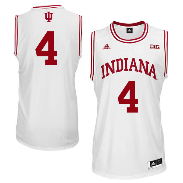 Men Indiana Hoosiers #4 Victor Oladipo College Basketball Jerseys Sale-White